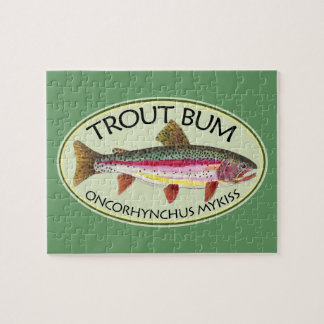 Trout Bum Fishing Jigsaw Puzzle