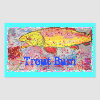 Trout Bum Rectangular Sticker