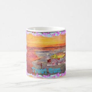 Trout Bum Sunset Coffee Mug