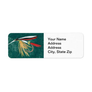 """Trout Fin"" Trout Fly Return Address Label"