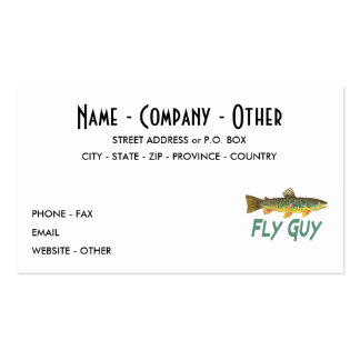 Trout Fisherman Pack Of Standard Business Cards