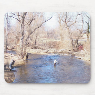 Trout Fisherman Mousepad
