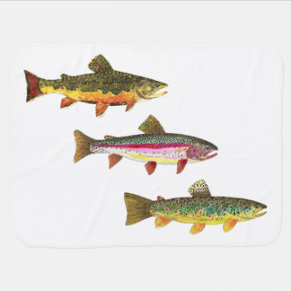 Trout Fishing Baby Blanket
