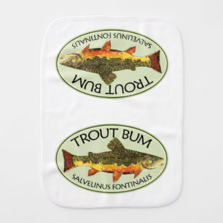 Trout Fishing Baby Burp Cloth