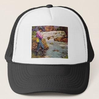 Trout Fishing below the Falls Trucker Hat