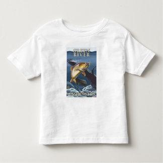 Trout Fishing Cross-Section - Green River, WA Toddler T-Shirt