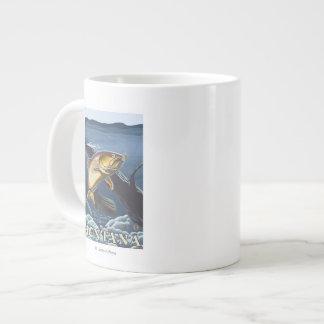 Trout Fishing Cross-Section - Montana Giant Coffee Mug