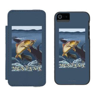 Trout Fishing Cross-Section - Montana Incipio Watson™ iPhone 5 Wallet Case