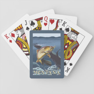 Trout Fishing Cross-Section - Montana Playing Cards