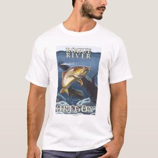 Trout Fishing Cross-Section - Rogue River, T-Shirt