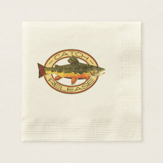 Trout Fishing Disposable Napkins