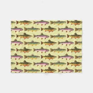 Trout Fishing Fleece Blanket