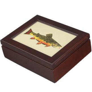 Trout Fishing Keepsake Box