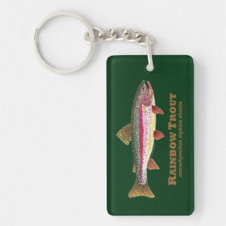 Trout Fishing Double-Sided Rectangular Acrylic Keychain