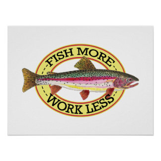 Trout Fly Fisherman Poster