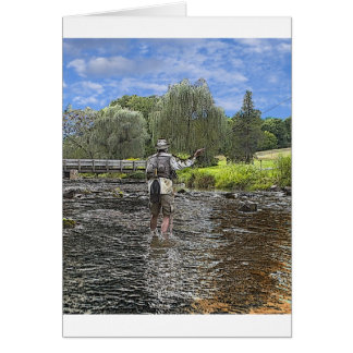 trout fly fishing card
