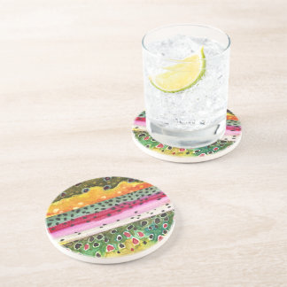 Trout Fly Fishing Drink Coaster
