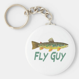 Trout Fly Fishing Key Ring