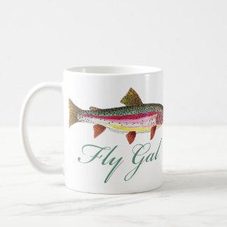Trout Fly Fishing Basic White Mug