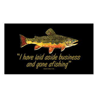 Trout Fly Fishing Pack Of Standard Business Cards