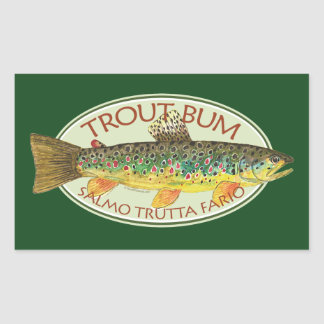 Trout Fly Fishing Rectangular Stickers