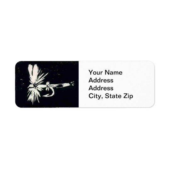 Trout Fly Return Address Label