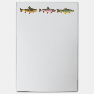 Trout Lover Sport Fishing Angler Fisherman Post-it Notes