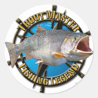 Trout Master Round Sticker