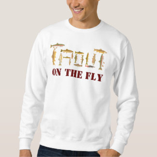 TROUT spelled out in fish art Sweatshirt