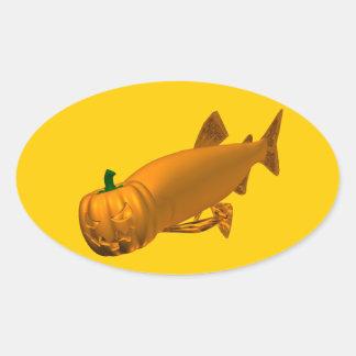 Trout Oval Sticker