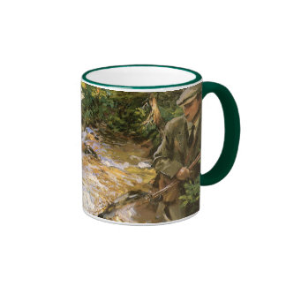 Trout Stream in the Tyrol by John Sargent Ringer Mug