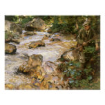 Trout Stream in Tyrol by Sargent, Victorian Art