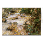 Trout Stream in Tyrol by Sargent, Victorian Art Greeting Card