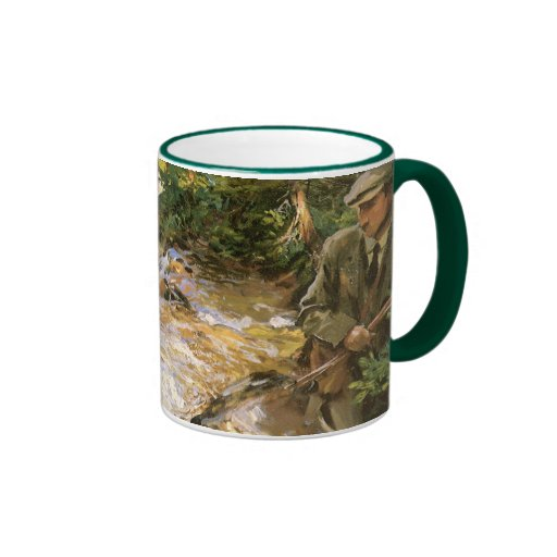 Trout Stream in Tyrol by Sargent, Victorian Art Coffee Mug