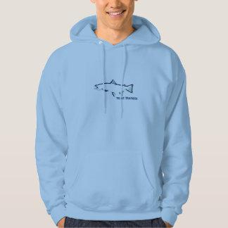 Trout Tracker Fishing Hoodie - Burnt Blue