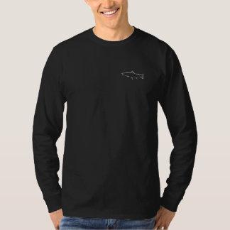 Trout Tracker Fishing Long Sleeve - Black T-Shirt