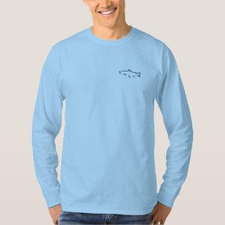 Trout Tracker Fishing Long Sleeve - Burnt Blue T-Shirt