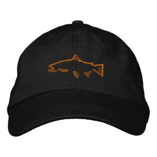 Trout Tracker Hat - Black Baseball Cap