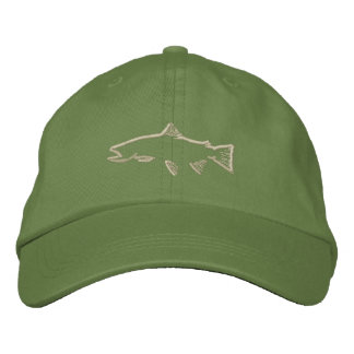 Trout Tracker Hat - Olive Embroidered Baseball Cap