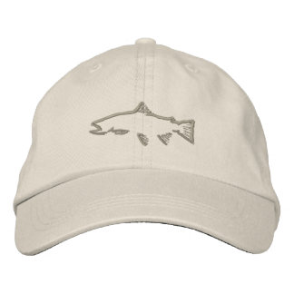 Trout Tracker Hat - Stone Embroidered Baseball Cap