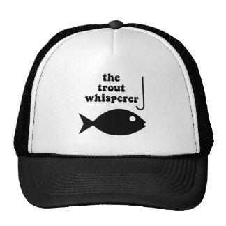 trout whisperer fishing trucker hats