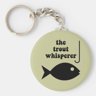 trout whisperer fishing key ring