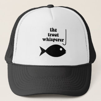 trout whisperer fishing trucker hat