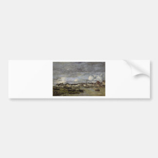 Trouville, the Port by Eugene Boudin Bumper Sticker