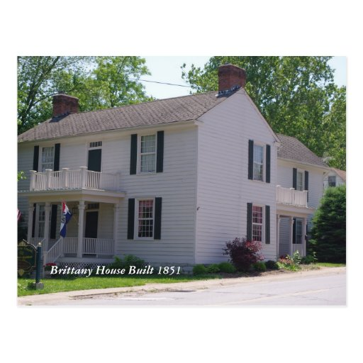 Troy 066, Brittany House Built 1851 Postcard