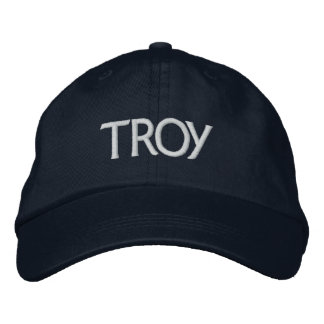 Troy Embroidered Baseball Cap