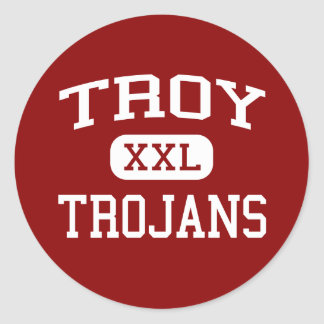 Troy - Trojans - High School - Troy Pennsylvania Round Sticker