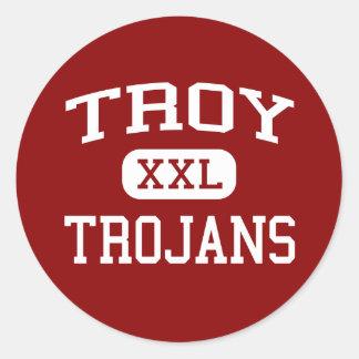 Troy - Trojans - Troy High School - Troy Ohio Round Stickers