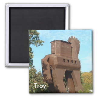 Troyan Horse Square Magnet