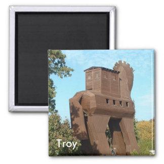 Troyan Horse Square Magnet